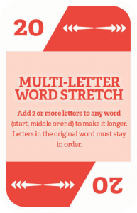 How to play WordStacker - Multi Letter Word Stretch