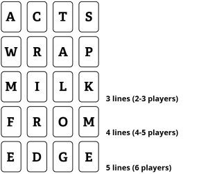 How to Play WordStacker - Game Layout